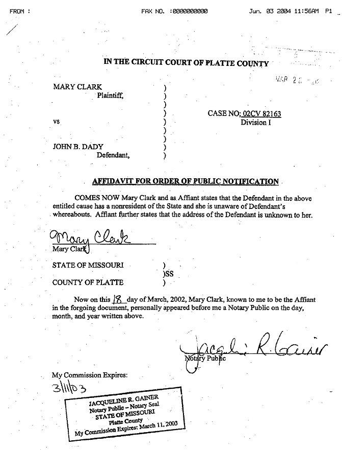 affidavit sample for i 751 pictures